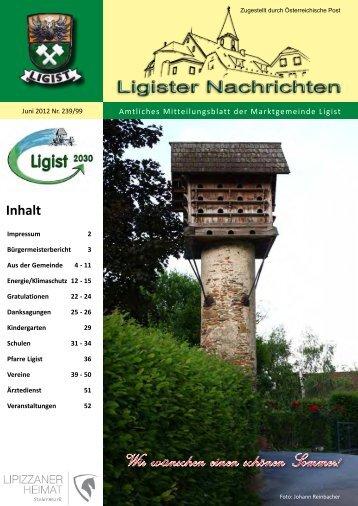 Ligist Nachrichten Juni 2012