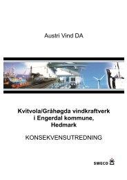konsekvensutredning for fire utbyggingsalternativer - Austri Vind