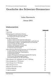 Geschichte des Schweizer-Stromnetzes - EEH