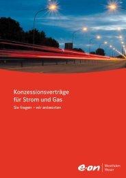 Konzessionsverträge für Strom und Gas - E.ON Westfalen Weser