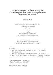 Untersuchungen zur Berechnung der Dauerfestigkeit von ...