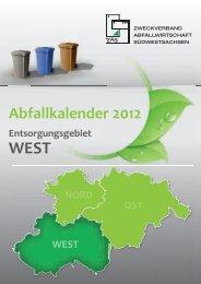 Abfallkalender 2012 - Landkreisentsorgung Schwarzenberg GmbH