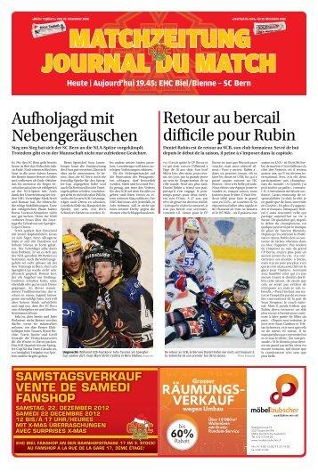 Aufholjagdmit Nebengeräuschen Retouraubercail ... - Journal du Jura
