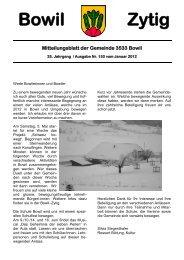 Bowil-Zytig Nr. 153 vom Januar 2012