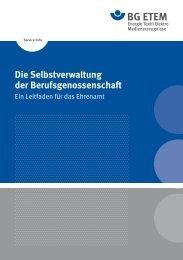 Die Selbstverwaltung der Berufsgenossenschaft - Die BG ETEM