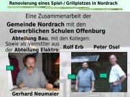 Renovierung eines Spiel-/Grillplatzes in Nordrach