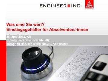 Branche Entgelt in der ITK-Branche 2012 Eine Erhebung in der ...
