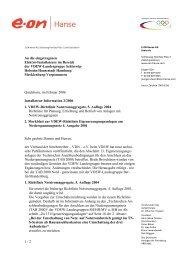 Installateur-Information 2 / 2006 (PDF / 428 KB) - E.ON Hanse