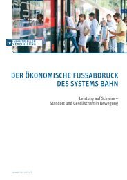 Der ökonomische Fußabdruck des Systems Bahn