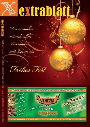 Ausgabe Dezember 2008 - Extrablatt