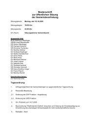 Niederschrift zur öffentlichen Sitzung der ... - Mattsee