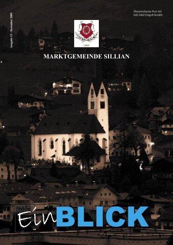 Ausgabe 13 - Dezember 2005 - Marktgemeinde Sillian