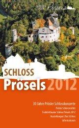 PröselsDT JProgrammheft 2012.indd - Schloss Prösels
