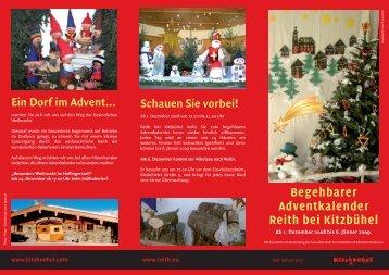 Begehbarer Adventkalender Reith bei Kitzbühel Ein Dorf im Advent ...
