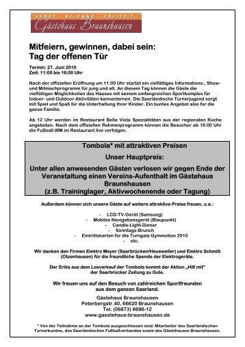 Tag der offenen Tür - Saarländischer Fußballverband e.V.