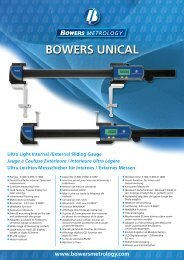 BOWERS UNICAL Ultra Light Internal /External Sliding Gauge Jauge à