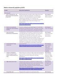 Projektoversigt - Medico Innovation