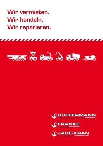 """Broschüre """"Leistungsübersicht"""" - Hüffermann Krandienst GmbH"""