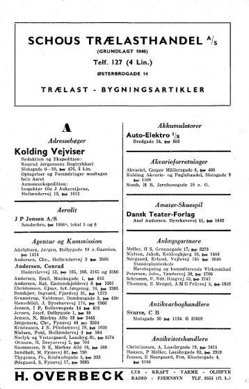 Fagregister 1957-58 - Kolding Kommune