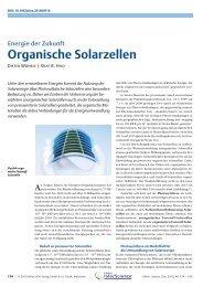 Organische Solarzellen. Energie der Zukunft - Shelx Uni Ac Gwdg