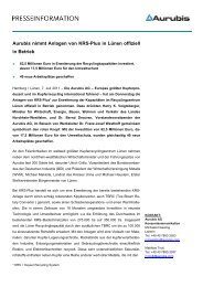 KRS-Plus Einweihung - Aurubis Stolberg
