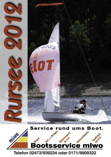 Rurseeheft 2012 - Segelsportclub - Rursee eV
