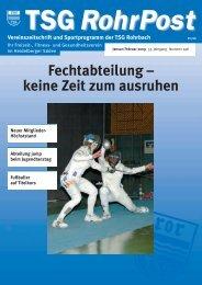 sportprogramm - TSG Rohrbach