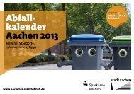 Abfall- kalender Aachen 2013 - Stadt Aachen