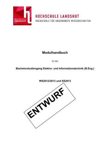 Modulhandbuch BA Elektro- und Informationstechnik - Hochschule ...
