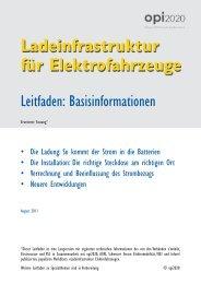 Ladeinfrastruktur für Elektrofahrzeuge - opi2020