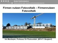 PV Labor der Berner Fachhochschule - Cleantec City