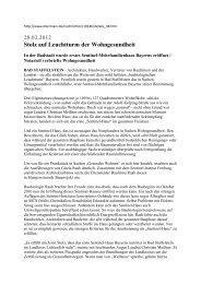 28.02.2012 Stolz auf Leuchtturm der Wohngesundheit