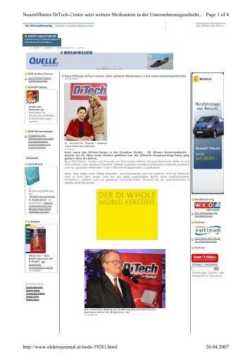 Page 1 of 4 Neueröffnetes DiTech-Center setzt weitern Meilenstein ...