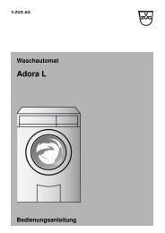 Adora L - Bedienungsanleitung V-ZUG AG - Elektroshop24