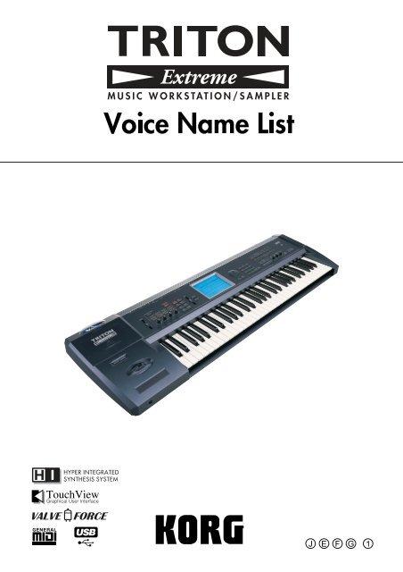 Korg 01 w sound list