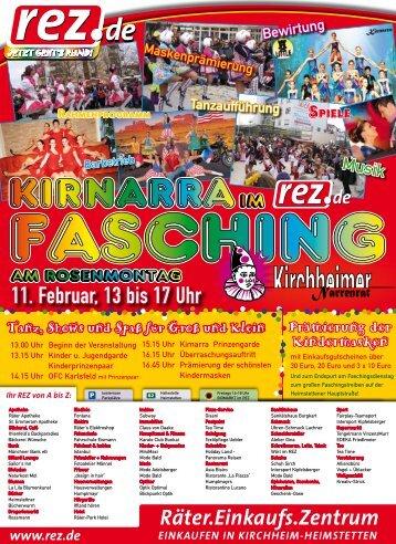 Flyer - REZ-Fasching mit Kirnarra