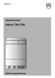 Bedienungsanleitung V-Zug Wäschetrockner Adora ... - Elektroshop24