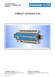 COMPACT-I/O-MODUL CAN - Grossenbacher Systeme AG