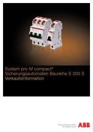 System pro M compact® Sicherungsautomaten Baureihe ... - Sonepar