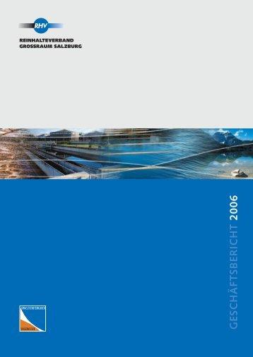 G ESC H Ä FT SB ER IC H T 2 0 0 6 - Umweltschutzanlagen ...