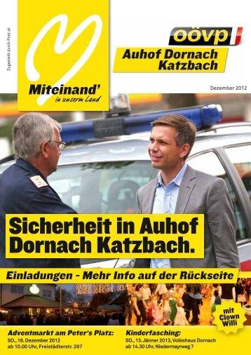 Sicherheit in Auhof Dornach Katzbach. - ÖVP Dornach