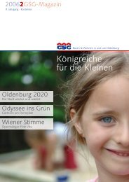 GSG-Magazin – Königreiche für die Kleinen ... - GSG Oldenburg