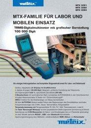 mtx-familie für labor und mobilen einsatz - Chauvin Arnoux