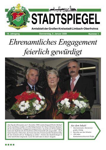Ehrenamtliches Engagement feierlich gewürdigt - Stadt Limbach ...