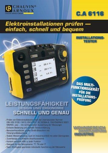 Elektroinstallationen prüfen — einfach, schnell ... - K+S Messtechnik
