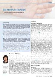 Das Karpaltunnelsyndrom - Swiss Medical Forum