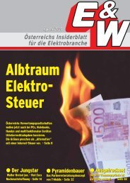 Österreichs Insiderblatt für die Elektrobranche 6/Juni 2010 - E&W