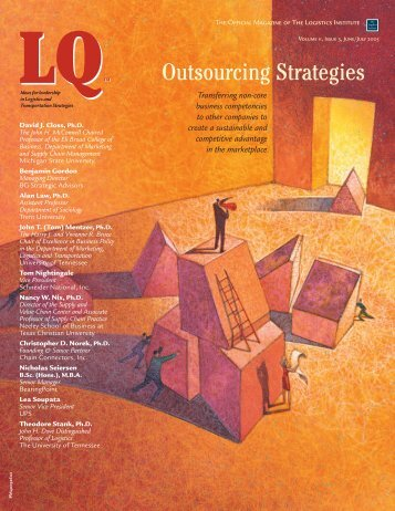 Outsourcing Strategies - Logistics Quarterly