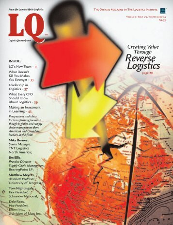 Reverse Logistics - Logistics Quarterly