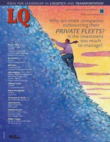 PRIVATE FLEETS? - Logistics Quarterly